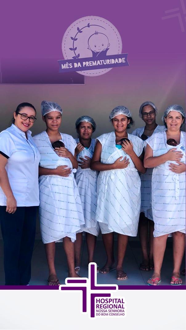Novembro Roxo: Hospital Regional promove ação com mães e bebês da UCI Canguru