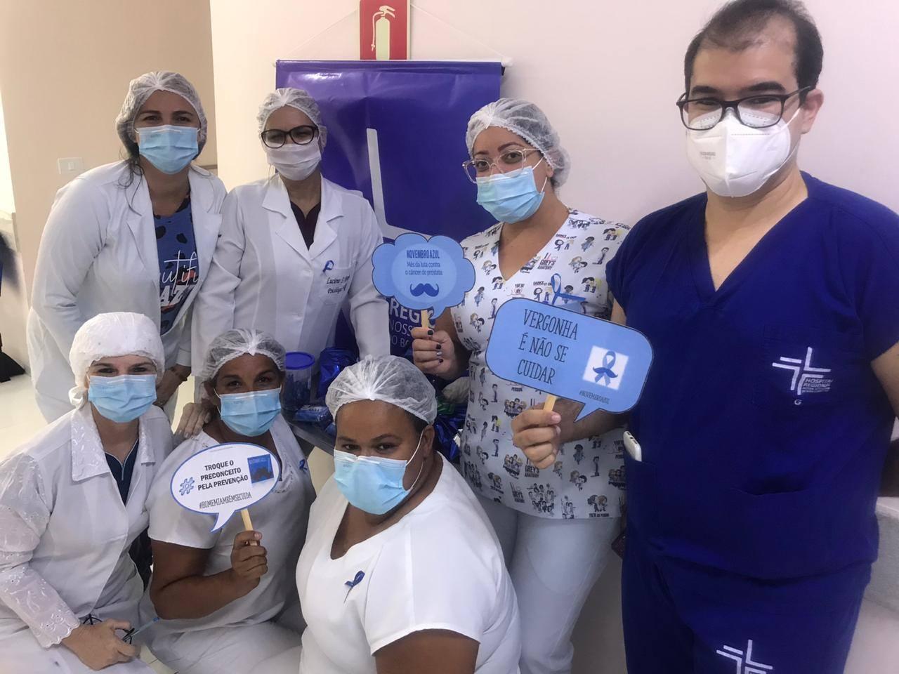 Hospital Regional realiza semana de ação para o novembro azul e roxo